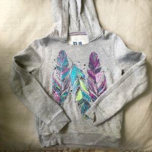 🧡 feather printed hoodie